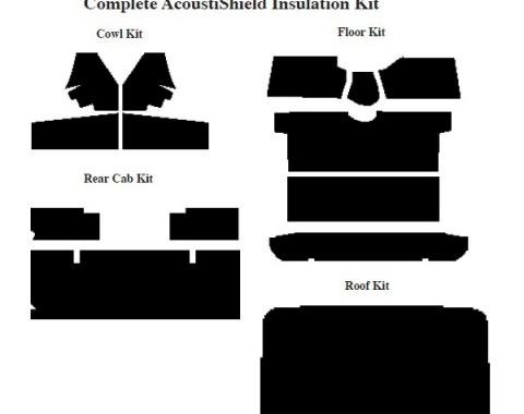 Chevy Insulation, QuietRide, AcoustiShield, Complete Kit, Truck, 1955-1959