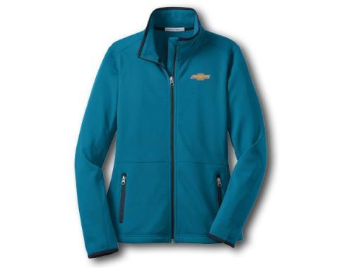 Chevy Jacket, Ladies, Zippered Pique Fleece, Blue