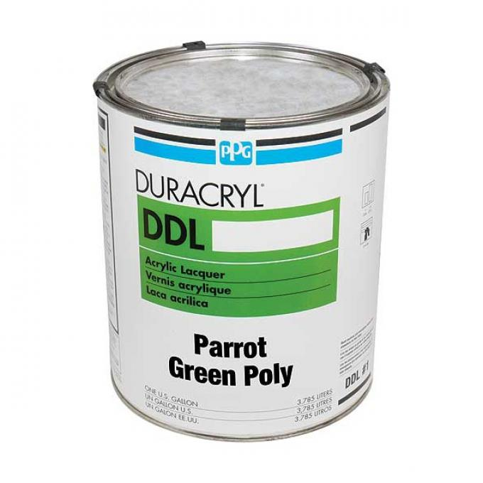 Exterior Body Paint - Acrylic Lacquer - Parrot Green Poly -Gallon - Ford