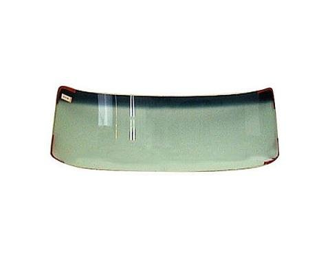 Windshield glass - 67-79 Ford Truck, F series - Green tint,with a blue shade across the top