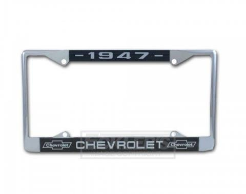 Chevy Truck License Plate Frame With Chevy Logo And Year, 1947-1976