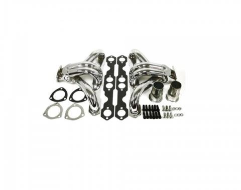 Chevy Full Size Stainless Steel Shorty Headers, Small Block, 1958-1972