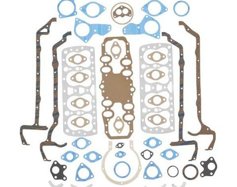Engine Gasket Set - Complete - Fel-Pro Brand - Steel Head Gaskets - Ford Flathead V8 85 HP 21 Stud Engine