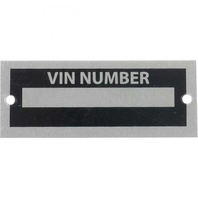 Blank VIN Number Plate