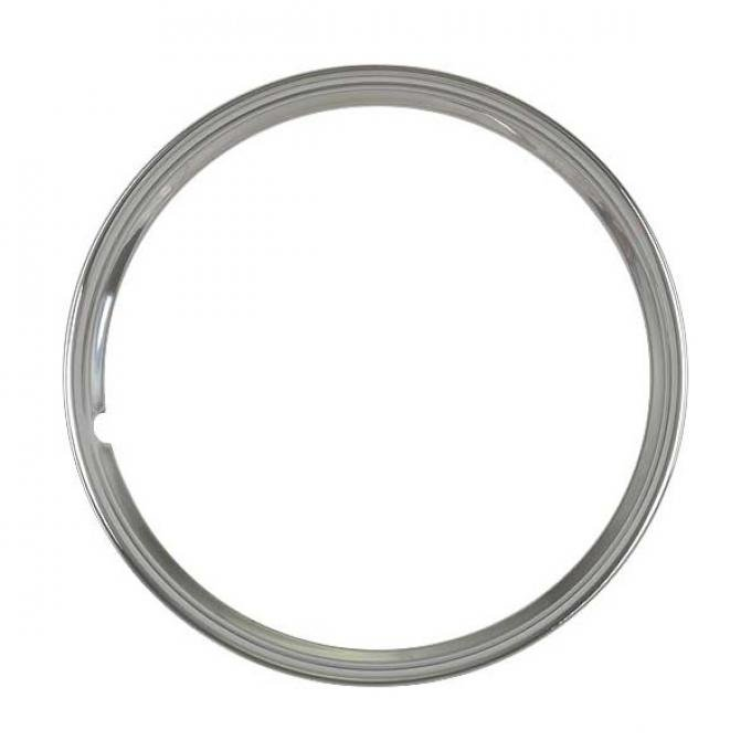Wheel Trim Ring - Smooth Stainless Steel - 16 - Ford