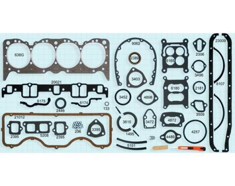 Chevy Truck Engine Gasket Set, 348 V8, 1958-1965