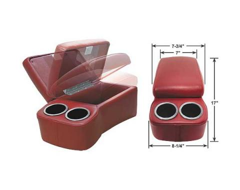 """BD Drinkster Seat Console - 17"""" x 8-1/4"""" - Red"""
