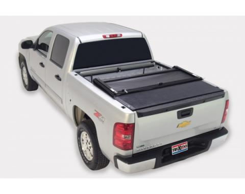 Truxedo Deuce Tonneau Bed Cover, Chevy Or GMC Truck, 8' Bed, Dually With Bed Caps, Black, 2007-2013