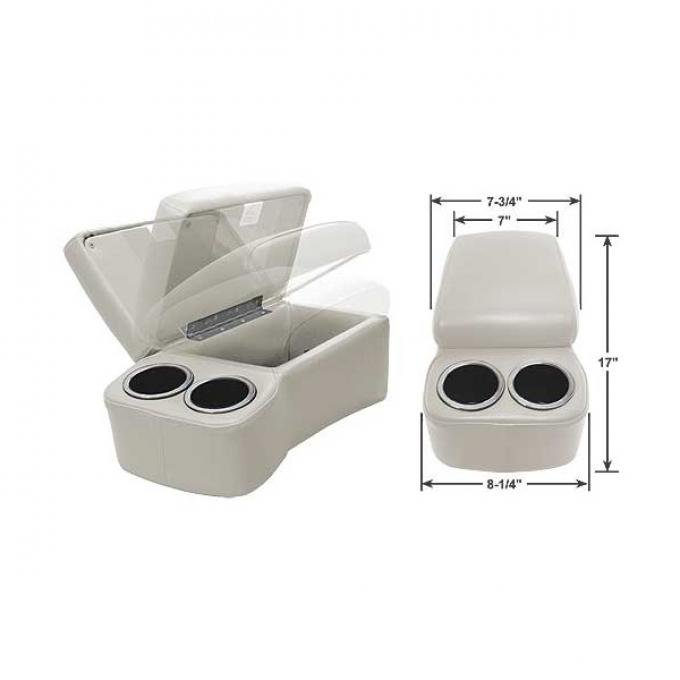 """BD Drinkster Seat Console - 17"""" x 8-1/4"""" - White"""