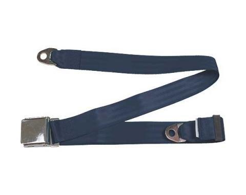 "Seatbelt Solutions Universal Lap Belt, 74"" with Chrome Lift Latch 1800744004   Dark Blue"