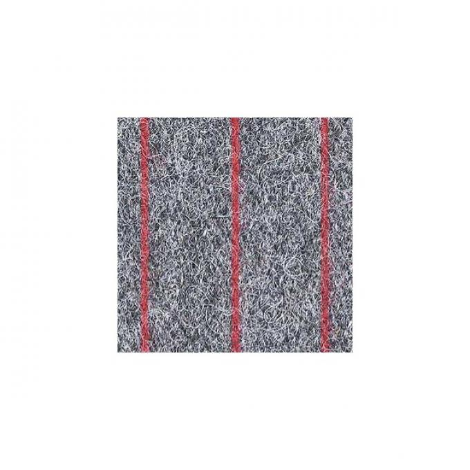 """Upholstery Fabric - Gray With Red Stripe Wool - 60"""" Wide -Material Available By The Yard"""