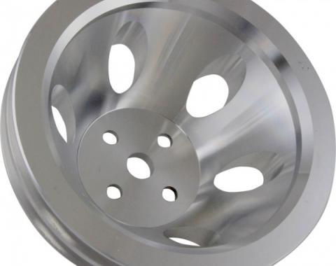 Chevy Small Block Aluminum Water Pump Pulley, Small Water Pump, 2 Groove