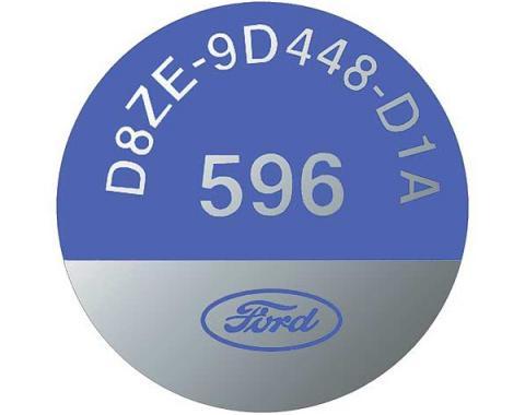 Ford Pickup Truck EGR Valve Decal - D8ZE-9D448D1A