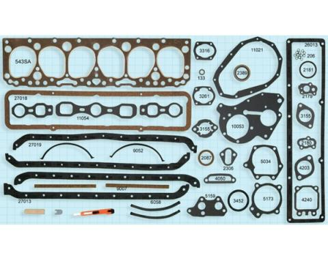Early Chevy Engine Gasket Set, 235 CI, 1953-1954