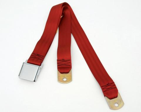 Chevy Or GMC Truck Seat Belt, Aircraft Latch Style, Dark Red, 1947-1972