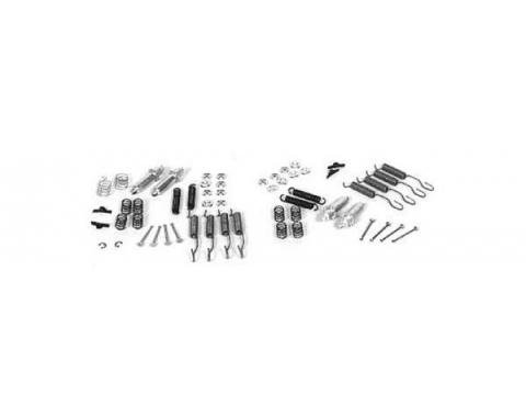 Full Size Chevy Brake Hardware Kit, Front And Rear, 1955-1957