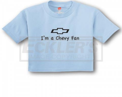 "Light Blue ""I'm A Chevy Fan"" Toddler Tee"