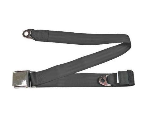 "Seatbelt Solutions Universal Lap Belt, 74"" with Chrome Lift Latch 1800746009   Charcoal"