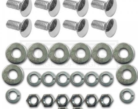 Chevy Or GMC Bumper Mounting Bolt Kit, Show Quality Chrome, Front Or Rear, 1967-1991