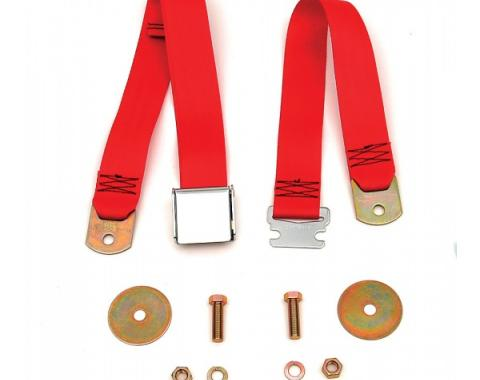 Chevy Or GMC Truck Seat Belt, Aircraft Latch Style, Red, 1947-1972