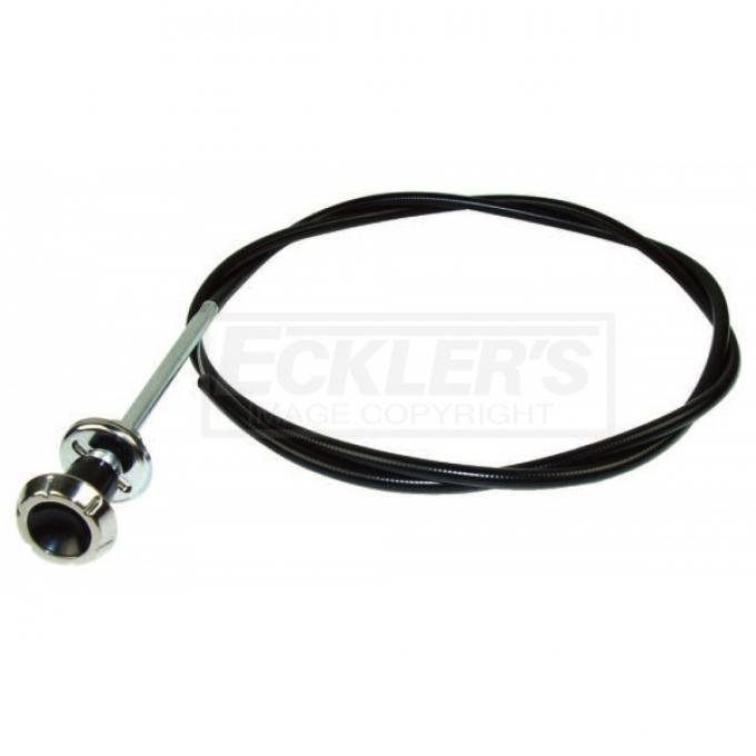 Chevy Or GMC Truck Choke Cable With Knob & Bezel, 1964-1966
