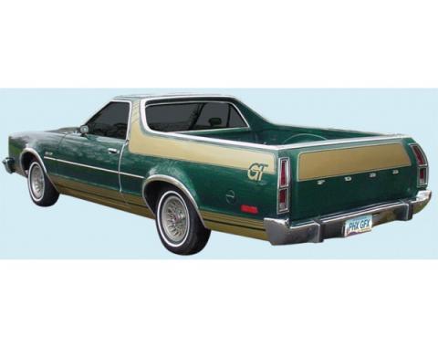 Lower Body Stripe Kit, GT, Ranchero, 1977-1979