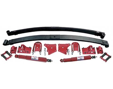 Early Chevy Parabolic Leaf Spring Suspension Kit, Rear, 1949-1954