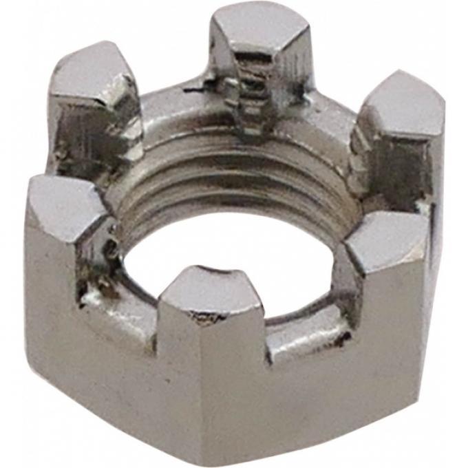Castle Nut - Chrome - 3/8-24