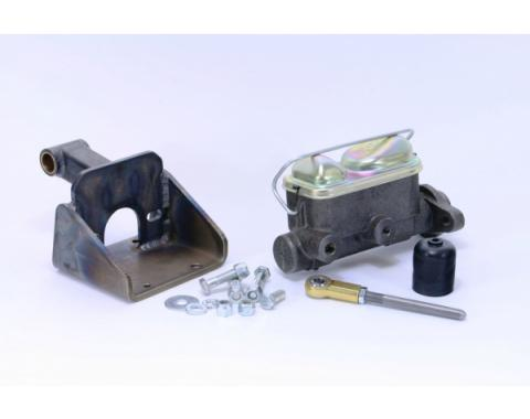Chevy Dual Master Cylinder Conversion, 1'' Bore, Manual Transmission, 1949-1954