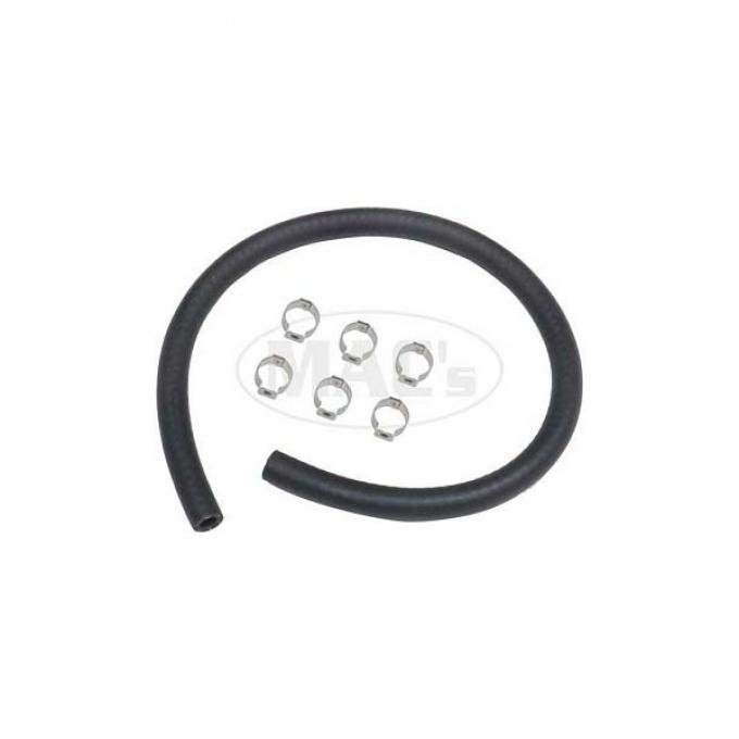 Fuel Line Rubber Hose & Clamp Kit, 5/16, Ford & Mercury