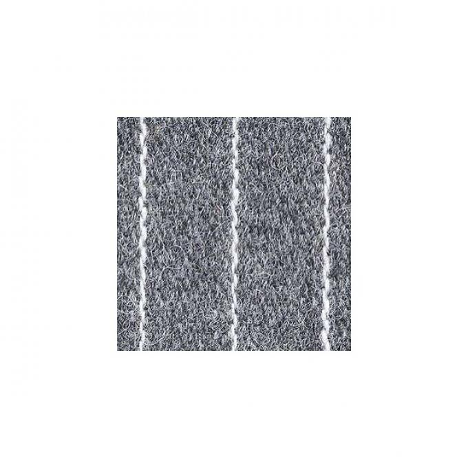 """Upholstery Fabric - Gray With White Stripe Wool - 60"""" Wide -Material Available By The Yard"""