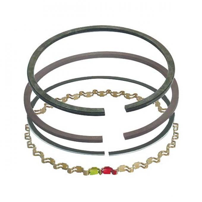 Piston Ring Set - Moly - Comp Size .078, Oil Size .187 - 289 HiPo V8 - Choose Your Size