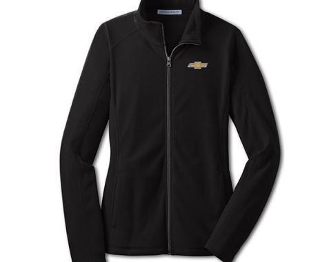 Chevy Jacket, Ladies, Full Zip Lightweight Microfleece , Black
