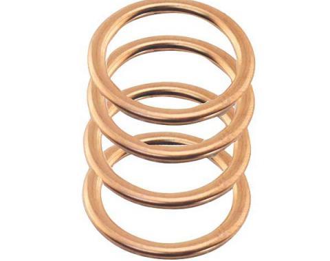 Spark Plug Gasket Set - 4 Cylinder Model B - 4 Pieces - Copper