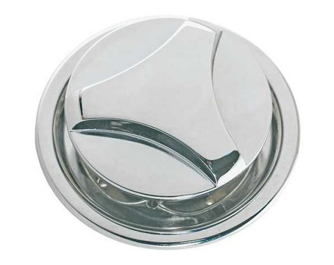 Daniel Carpenter Hood Lock - Twist Type - Chrome - Reproduction D0ZZ-16896-R