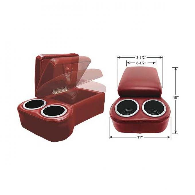 "BC Seat Cruiser Console - 18 "" x 11"" x 7"" - Red"