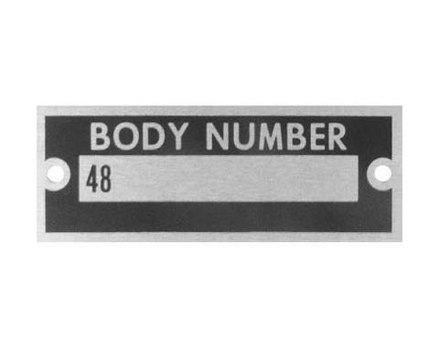 Body Number Plate - With Rivets - Ford