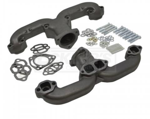"Chevy Or GMC Truck Small Block ""Rams Horn"" Exhaust Manifolds, 2.5"", 1947-1987"