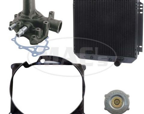 66/69 Fairlane/Ranchero Cooling Kit (3 Row-351 AC) 20 In Rad