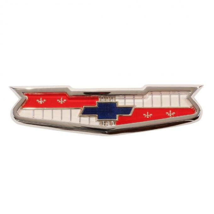 Trim Parts 56 and 60 Full-Size Chevrolet V-8 and 6-Cylinder Trunk Emblem Assembly, Each 1306