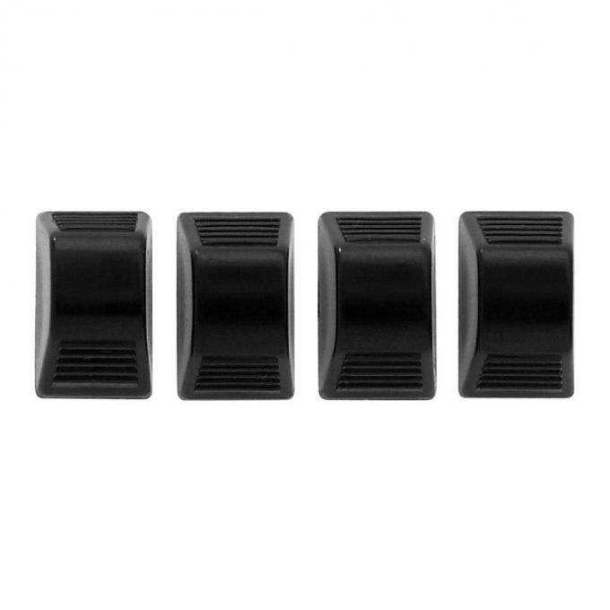 Trim Parts Black Heater Control Knobs, 4 pieces 9579A