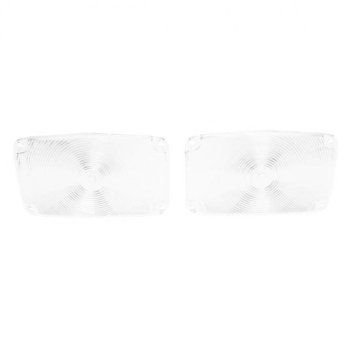 Trim Parts 56 Full-Size Chevrolet Clear Parking Light Lens, Pair A1385