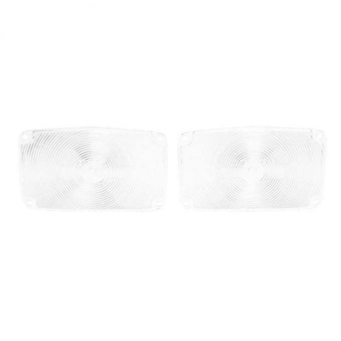 Trim Parts 56 Full-Size Chevrolet Clear Parking Light Lens with Bowtie, Pair A1387