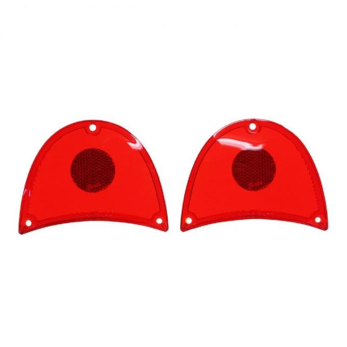 Trim Parts 57 Full-Size Chevrolet Red Tail Light Lens, Pair A1480