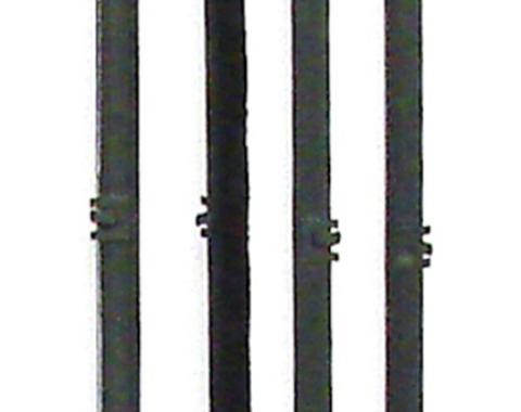 Precision Beltline Molding Kit, Black, Inner/Outer, Left and Right Hand, 4 Piece Kit WFK 1110 67 A