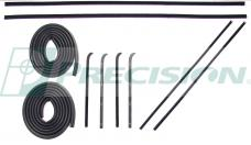 Precision Door Weatherstrip Seal Kit, Glassruns, Beltlines and Door Seals. Models with Metal Framed Glass, Left and Right, 10 Piece Kit DK 1110 60 PDS