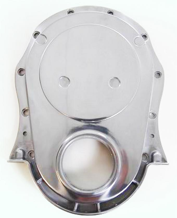 RPC Racing Power Company R8422, Timing Cover, Polished, Aluminum, With Gasket, For Use With Chevy Big Block