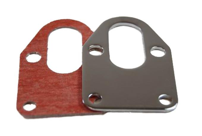 RPC Racing Power Company R2310, Fuel Pump Mounting Bracket, Small Block Chevy 283-400, Chrome Plated, Steel