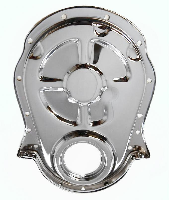 RPC Racing Power Company R4935, Timing Cover, Chrome Plated, Steel, With Gasket