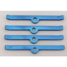 Chevy Valve Cover Hold Down Tabs, Steel, Powder Coated Blue,Small Block, 1955-1957